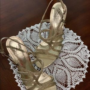 golden party shoes
